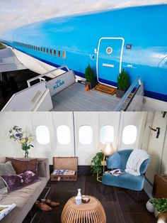 Airplane Apartment (Amsterdam Airport Schiphol, North Holland, Netherlands). The decorating looks better than anticipated.
