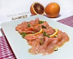 Salmone marinato arancia e pistacchi, San Valentino -ricetta