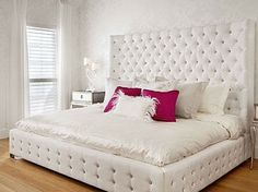 Get inspired by Glam Bedroom Design photo by Younique Designs. Wayfair lets you find the designer products in the photo and get ideas from thousands of other Glam Bedroom Design photos. Glam Bedroom, Girls Bedroom, Bedroom Decor, White Bedroom, Master Bedroom, Pretty Bedroom, Girl Rooms, Bedroom Ceiling, Design Bedroom
