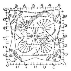 Crochet Charts on crochet circle motif patterns