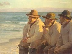 'Looking Out to Sea' by Danish Painter Michael Ancher
