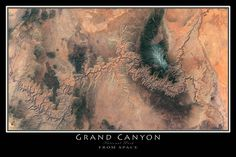 Grand Canyon National Park Arizona Satellite Poster Map