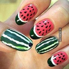 amazing watermelon nail art Amazing fruit nail art (28 Photos)