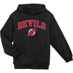 NHL New Jersey Devils Youth Team Fleece Hoodie, Boy's, Size: XS, Black