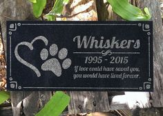 Pet Memorial Stone Personalized Heart Paw Headstone Garden Plaque Custom Engraved Cat Memorial Dog Grave Markers in Granite Memorial Stone by eugenie2 on Etsy https://www.etsy.com/listing/231189530/pet-memorial-stone-personalized-heart