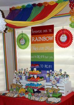 rainbow brite party