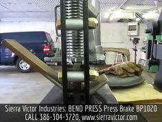 "Available at Sierra Victor Industries: 20 Ton x 10"" BEND PRESS® Benchtop Press Brake. MODEL BP1020. MADE IN USA! For more information or to order, CALL 386-304-3720, VISIT http://sierravictor.com/index.php?dis..."