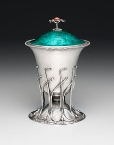 Charles Robert Ashbee (British, 1863–1942), Silver and Enameled Covered Challis.