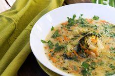 gotować! - Zupa brokułowa na bazie beszamelu Nasu, Orzo, Thai Red Curry, Ethnic Recipes, Food, Essen, Meals, Yemek, Eten