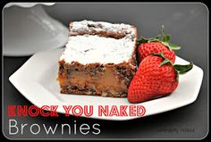 Knock you naked easy chocolate caramel brownie  dessert recipe bake