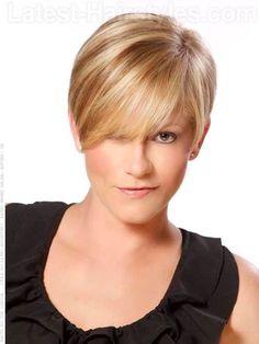 High Profile Cute Blonde Short Cut Over The Ears