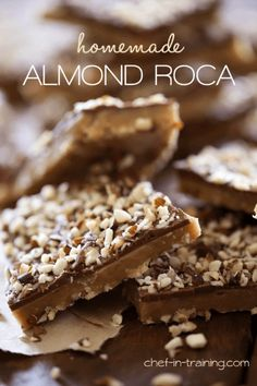This Homemade Almond Rocha is going to be a HUGE hit at your holiday ...