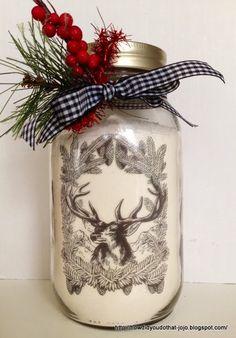 Waterslide decal on jar...love this!