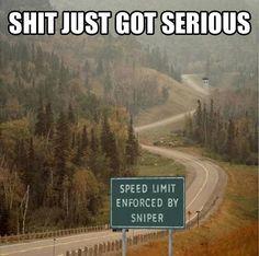 Enforced Speed Limit… #lol #haha #funny