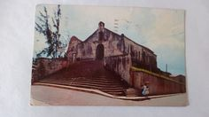 1962 OLDEST CHURCH IN THE WORLD AT SAN GERMAN ,PUERTO RICO POSTCARD