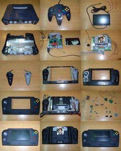 Este hombre transformó su Nintendo 64 en una consola portátil.