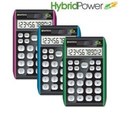 Paquete de 10 calculadoras Datexx para escritorio, 12 dígitos, híbrida $2517