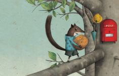 Marco Somà: Portfolio (0-7 Years) Squirrel Illustration, Tree Illustration, Kitty Crowther, Squirrel Art, Disney Concept Art, Pictures To Paint, Cartoon Styles, Illustrators, Book Art