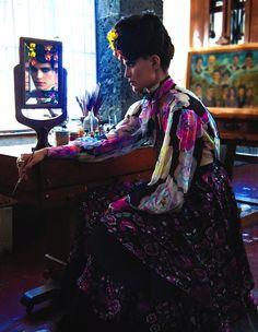 """""""La Fuerza di Frida"""": Renata Sozzi as Frida Kahlo by Michael Filonow for Vogue Mexico"""