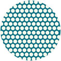 Jay-Cyn Designs for Birch Fabrics, Mod Basics, Organic, Dottie Cream Teal