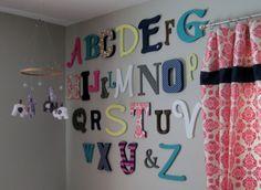 diy alphabet wall