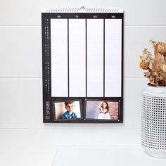 Photo Calendar 2016, Photo Diary or Family Planner all fully personalized to never loose track on your planning, the day, the family member activities, quick and easy to order at smartphoto.