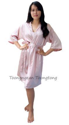 champagne robe Satin bridesmaid robe 75900b117