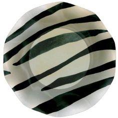 Pappteller Zebra Ø 18,5 cm, 60 Stück
