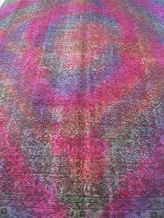 Multicolor Overdyed Turkish Carpet Area Rug By Bazaarbayar On Etsy