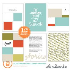 December Stories 6x8 Layered Templates by Ali Edwards #decemberdaily