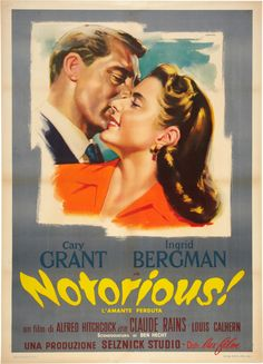 Notorious | Italian Movie Poster, R-1950s