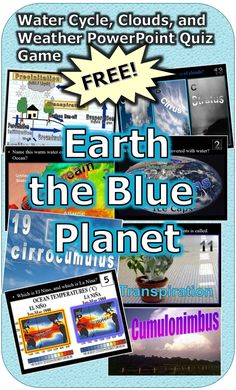 This is a FREE 170 slide PowerPoint Review Game about the oceans, El Nino, La Nina, the Water Cycle, Clouds, and more. This Review Game is one small part of my weather and climate unit that I offer on TpT. 1-25 template and answers are provided.