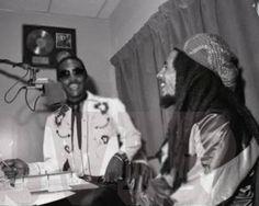 **Bob Marley** & Frankie Crocker, New York City, NY,