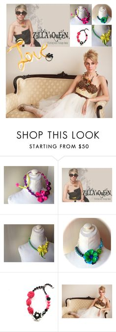 """""""Zilla's Queen Vintage Remix Jewelry"""" by thejewelseeker-1 ❤ liked on Polyvore featuring vintage, women's clothing, women, female, woman, misses, juniors, handcrafted, artist and jewellery"""