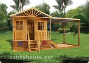 Redwood Lodge Cubby House Australian-Made Wooden Playground DIY Kits
