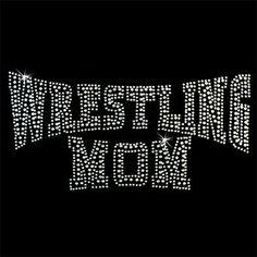 Wrestling Mom Rhinestone crystal DIY iron on by BLINGBLINGBLINGDIY, $10.00