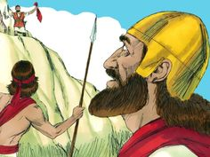 David went out of the cave and called out to Saul, 'My lord the king!' When Saul… David And Saul, King David, 1 Samuel 22, The Bible Movie, Free Stories, The Other Side, Photo Illustration, Sunday School, Artwork