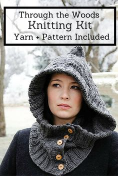 This whimsical accessory will ward off the harsh winter cold while keeping you safely disguised from the lurking dangers of the wild woods. Features a very easy to remember cable pattern and no abbreviations to keep track of!
