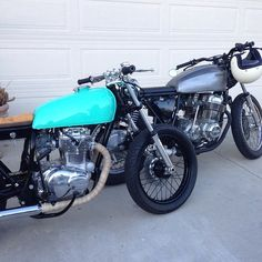 Here's our vintage Hondas