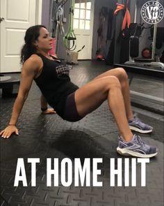 At Home HIIT Workout - Toe Touches (Toque de pies opuesto) Legged Bridge Kicks (Elevacion de pi - Fitness Workouts, Full Body Hiit Workout, Gym Workout Tips, Insanity Workout, Best Cardio Workout, Ab Workouts, Workout Videos, At Home Workouts, Fitness Tips