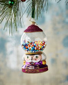 Shop Bubble Gum Chum Christmas Ornament from Christopher Radko at Horchow, where you'll find new lower shipping on hundreds of home furnishings and gifts. Candy Land Christmas, Christmas Holidays, Christmas Decorations, Christmas Ornaments, Christopher Radko, How To Make Ornaments, Candyland, Bubble Gum, Snow Globes