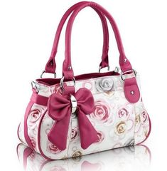 Bolsa Detalhe Rosa - Nath Bolsas & Acessórios