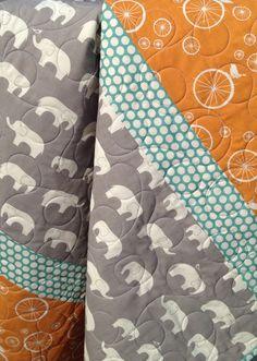 Modern Organic Baby Infant Toddler Newborn Quilt by TheFiberChick, $95.00