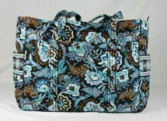 Vera Bradley New Baby Bag in original Java Blue (New, part of item title) This large capacity tote is a great baby bag with its' included changing p Vera Bradley Baby, Vera Bradley Tote Bags, Satchel, Crossbody Bag, Java, Fashion Handbags, Purse Wallet, New Baby Products, Shoulder Bag