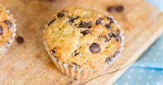 Recette de Muffins diététiques aux pépites de chocolat pour petit déjeuner au bureau. Facile et rapide à réaliser, goûteuse et diététique.