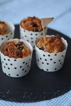 Blåbærmuffins med hytteost