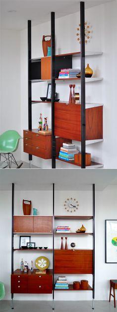 mid century modern bookshelf.  Secret Design Studio knows Mid Century Modern Architecture.   www.secretdesignstudio.com