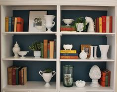 step by step guide to styling bookshelves