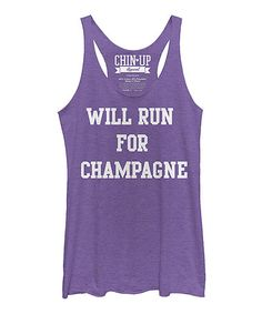 Look what I found on #zulily! Heather Purple 'Champagne' Raw Edge Racerback Tank #zulilyfinds