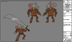 King of OOO: selected model sheets fromLittle Brother lead...